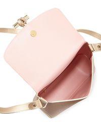 Longchamp - Roseau Metallic Leather Crossbody Bag - Lyst
