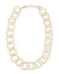 Lydell NYC - Metallic Single-strand Circle-link Necklace - Lyst