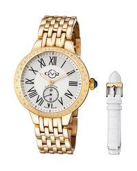 Gv2 - Metallic 40mm Astor Bracelet Watch W/ Diamond Bezel & Interchangeable Strap - Lyst