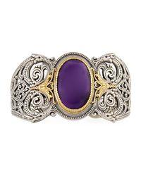 Konstantino - Purple Erato Filigree Cuff Bracelet W/ Amethyst Doublet - Lyst