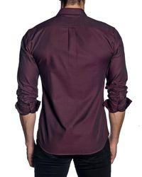 Jared Lang - Purple Long Sleeve Modern Fit Shirt for Men - Lyst