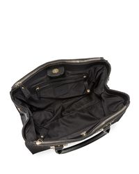 Neiman Marcus - Black Morgan Saffiano Double Satchel Bag - Lyst