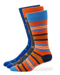 Unsimply Stitched - Blue Men's Multicolor/pattern Socks for Men - Lyst
