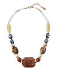 Nakamol - Natural Chunky Beaded Stone Necklace In Nude Mix - Lyst
