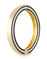 Fragments - Metallic Enamel Hinged Bangle Bracelet - Lyst