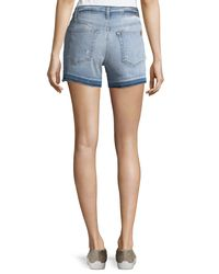 Joe's Jeans - Blue Released-hem Denim Shorts - Lyst