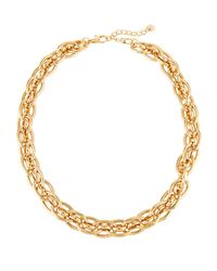 Lydell NYC | Metallic Golden Chain Collar | Lyst