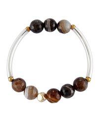 Nakamol - Brown Quartz Beaded Stretch Bracelet - Lyst