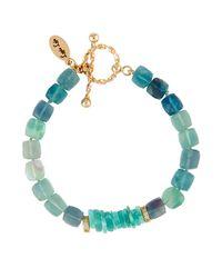 Lapis Lois - Blue Faceted Fluorite & Amazonite Cube Bracelet - Lyst