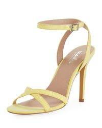 Charles David - Yellow Rome Faux-suede High-heel Sandal - Lyst