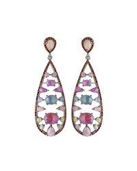 Bavna - Multicolored Sapphire & Garnet Teardrop Earrings - Lyst