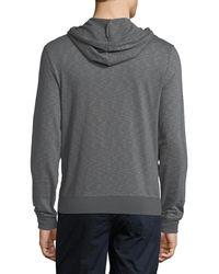 Original Penguin - Gray Feeder Striped Slub-knit Hoodie for Men - Lyst