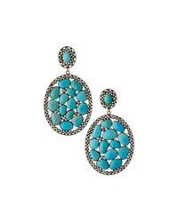 Bavna - Blue Multi-turquoise Drop Earrings - Lyst