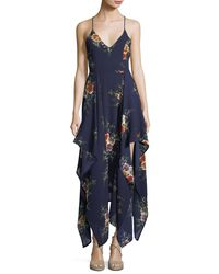Haute Rogue | Blue Ammy Drapey High-low Dress | Lyst