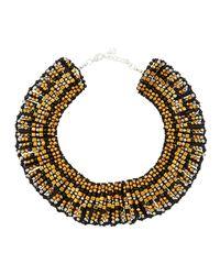 Nakamol - Black Beaded Statement Collar Necklace - Lyst