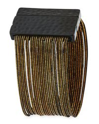 Romeo and Juliet Couture - Multicolor Multi-row Snake Chain Wrap Bracelet - Lyst