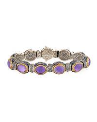 Konstantino - Purple Erato Oval Amethyst Doublet Link Bracelet - Lyst