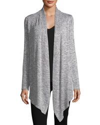 Bobeau - Blue Waterfall Heathered Cardigan - Lyst