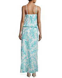 MICHAEL Michael Kors - Blue Side-tie Long Dress Swim Coverup - Lyst