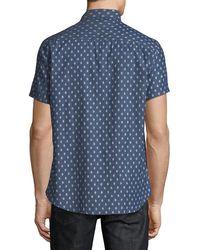 Sovereign Code - Blue Men's Town Short-sleeve Chambray Sport Shirt for Men - Lyst