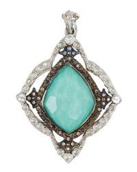 Armenta | Blue New World Kite Cross Enhancer W/ Turquoise Doublet & Diamonds | Lyst