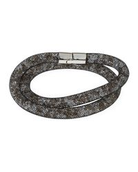 Swarovski | Metallic Stardust Convertible Crystal Mesh Bracelet/choker Set | Lyst