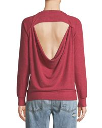 Chaser - Red Rock-&-roll Open-back Terry Sweatshirt - Lyst
