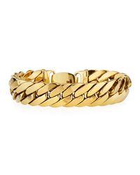 Roberto Coin - 18k Yellow Gold Flat Curb Link Bracelet - Lyst