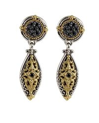 Konstantino - Multicolor Asteri Pave Black Diamond Dangle Earrings - Lyst