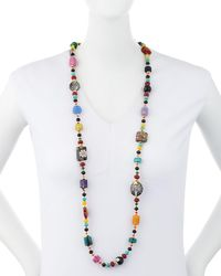 Jose & Maria Barrera - Multicolor Long Beaded Fire Agate Necklace - Lyst