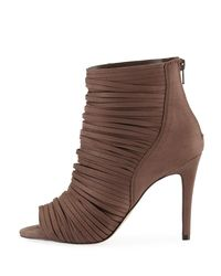BCBGeneration - Gray Elle Strappy Peep-toe Booties - Lyst