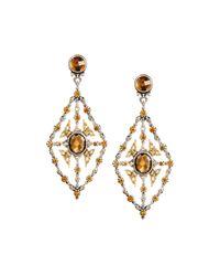 Konstantino - Metallic Thalassa Quartz Kite Chandelier Earrings - Lyst