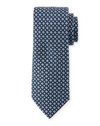 Neiman Marcus - Blue Alternating Neat Silk Tie for Men - Lyst