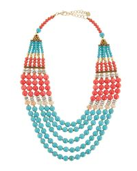 Nakamol - Blue Multi-strand Necklace - Lyst