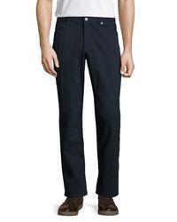 Michael Kors - Blue Straight-leg Twill Pants for Men - Lyst