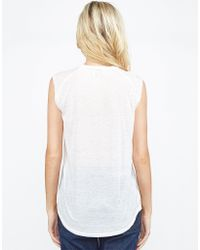 Lauren Moshi - White Riley Lipstick Mouth Muscle Tank - Lyst