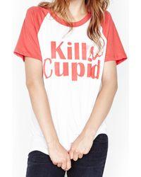 Lauren Moshi - Pink Sparrow Kill Cupid Vintage Raglan Tee - Final Sale - Lyst