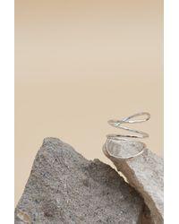 Lavish Alice - Metallic Spiral Sculpture Ring In Sterling Silver - Lyst