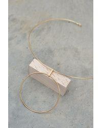 Lavish Alice - Metallic Sterling Silver Gold Plated Hoop Detail Choker - Lyst