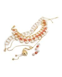 Lele Sadoughi - Multicolor Feathered Fan Necklace - Lyst