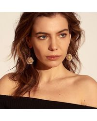 Lele Sadoughi - Metallic Plumeria Drop Earring - Lyst