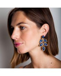 Lele Sadoughi | Palm Leaf Earrings, Atlantic Blue | Lyst