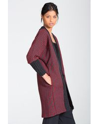 Lemlem - Multicolor Tolo Knit Trim Long Cardigan - Lyst