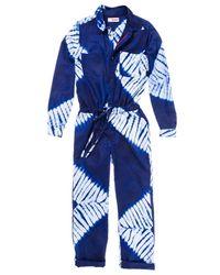 Lemlem - Blue Button Up Jumpsuit - Lyst
