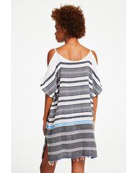 Lemlem - Blue Aziza Open Shoulder Cover-up - Lyst