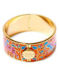Liberty | Orange Imran Enamel Thick Cuff | Lyst