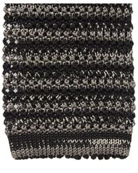 Nick Bronson - Black Melange Stripe Tie for Men - Lyst
