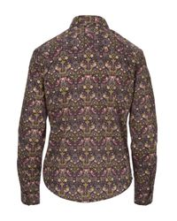 Liberty - Brown Fitted Camille Shirt for Men - Lyst