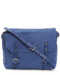 Ally Capellino | Blue Jez Waxy Canvas Messenger Bag | Lyst