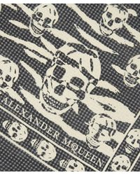 Alexander McQueen - Black Tiger Skull Scarf - Lyst